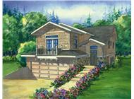 This image shows a colored rendering of the Stoneybrook Country Homeplans.