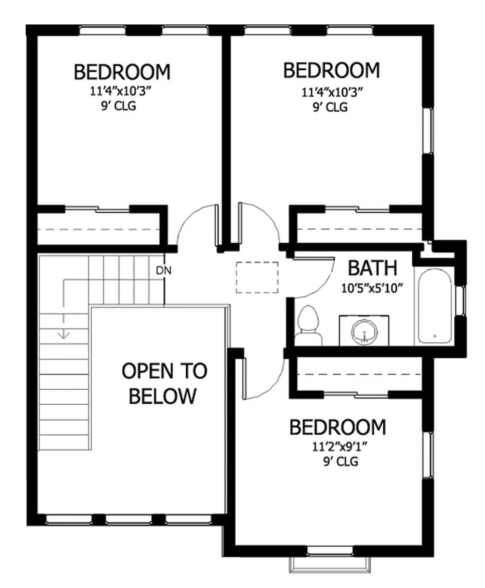 Second floor home designs gurus floor for Simple floor plan design