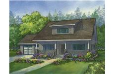 THis image is the colored rendering of the Parkside Bungalow House Plans.