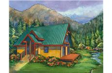 This image is a colored rendering of Jasper Vacation Homeplans.