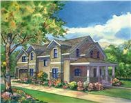 This image is a colored rendering of Country Homeplans Corbin Park.