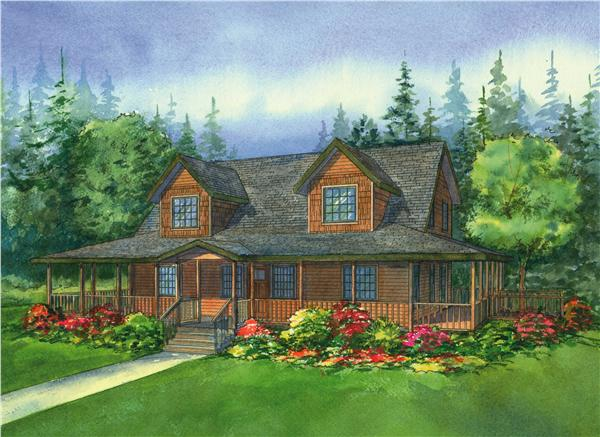 This image is a colored rendering of the Northwood Country Homeplans.