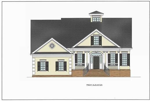 This image shows the Traditional, European, Country, Southern Style of this house plan.