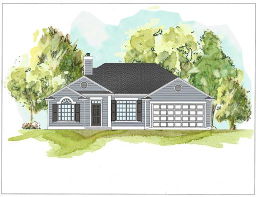 This is a colored rendering of Country Homeplans 07-069 F.