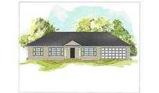 This is a colored rendering of Ranch Homeplans 07-069 B.