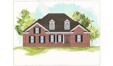This front elevation shows the charming style of these European Houseplans.