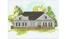 This image shows the front elevation of these Craftsman Home Plans.