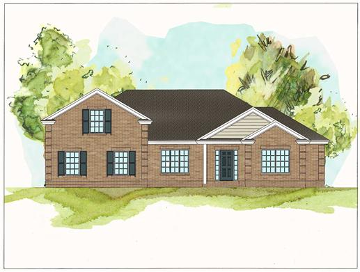 This image shows the front elevation of these Traditional Ranch Homeplans.