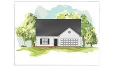 This image is a colored rendering of Traditional Home Plans 07-069 K.