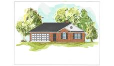 This is a colored rendering of Country Houseplans 07-069 D.