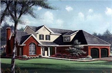 3-Bedroom, 2357 Sq Ft Traditional Home Plan - 113-1001 - Main Exterior