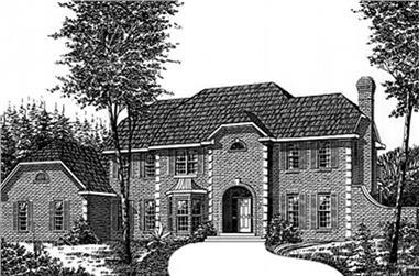 4-Bedroom, 3205 Sq Ft European House Plan - 113-1004 - Front Exterior