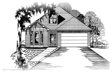 3-Bedroom, 1304 Sq Ft Small House Plans - 113-1006 - Front Exterior