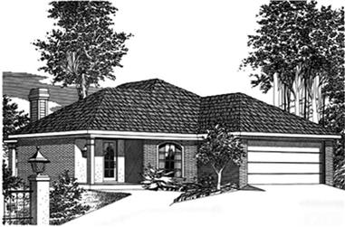 3-Bedroom, 1437 Sq Ft Small House Plans - 113-1007 - Front Exterior