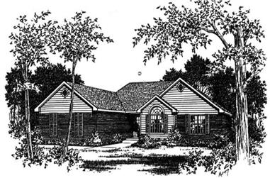 3-Bedroom, 1681 Sq Ft Small House Plans - 113-1008 - Front Exterior