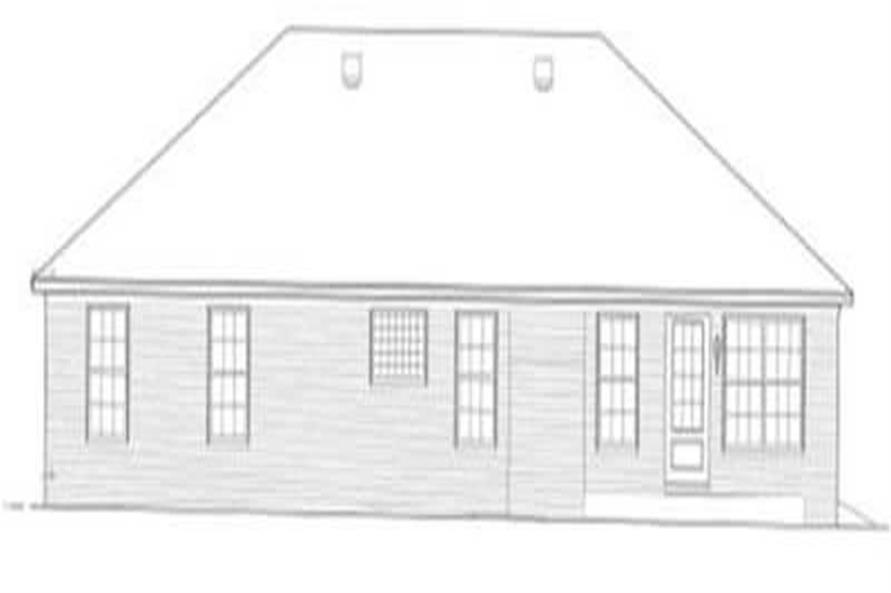 Home Plan Rear Elevation of this 3-Bedroom,1681 Sq Ft Plan -113-1008