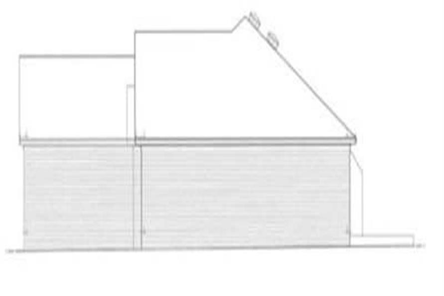 Home Plan Right Elevation of this 3-Bedroom,1681 Sq Ft Plan -113-1008