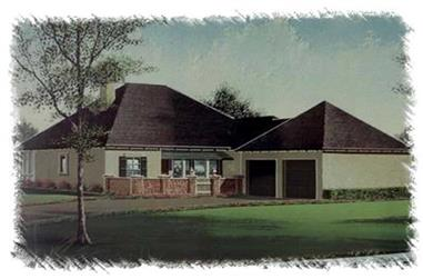 3-Bedroom, 2152 Sq Ft French Home Plan - 113-1011 - Main Exterior