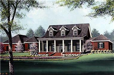 4-Bedroom, 3723 Sq Ft Colonial Home Plan - 113-1012 - Main Exterior