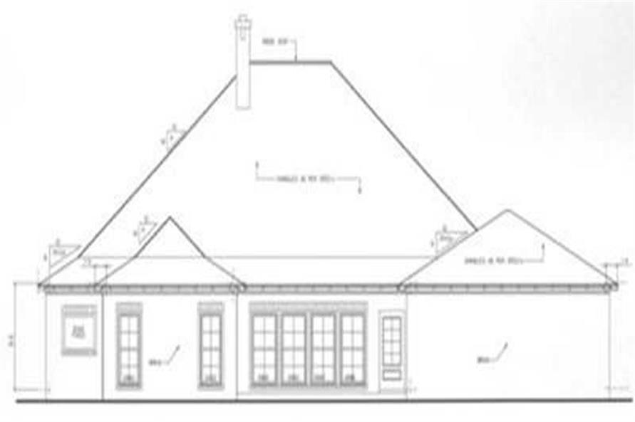 Home Plan Rear Elevation of this 4-Bedroom,3723 Sq Ft Plan -113-1012