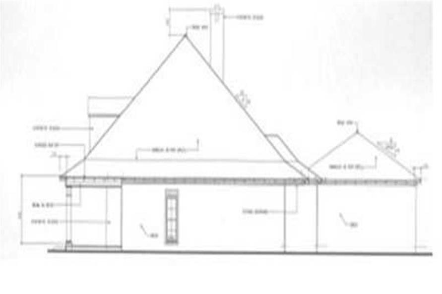 Home Plan Right Elevation of this 4-Bedroom,3723 Sq Ft Plan -113-1012