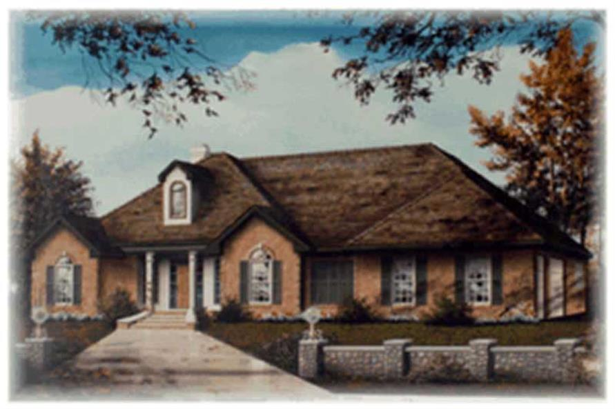 3-Bedroom, 2350 Sq Ft European House Plan - 113-1013 - Front Exterior