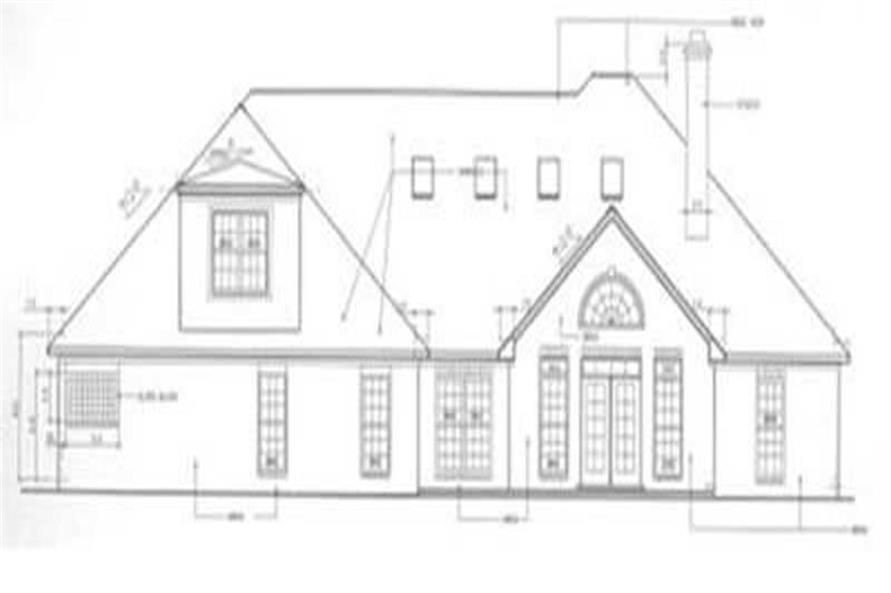 Home Plan Rear Elevation of this 3-Bedroom,2350 Sq Ft Plan -113-1013