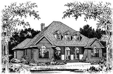 5-Bedroom, 3509 Sq Ft Colonial Home Plan - 113-1016 - Main Exterior