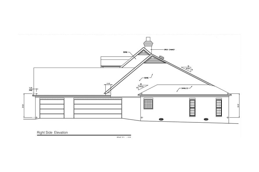 Home Plan Right Elevation of this 4-Bedroom,3431 Sq Ft Plan -113-1017