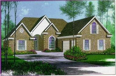 4-Bedroom, 2574 Sq Ft Ranch House Plan - 113-1019 - Front Exterior