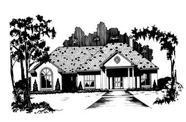 3-Bedroom, 1848 Sq Ft Ranch Home Plan - 113-1021 - Main Exterior