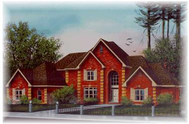 4-Bedroom, 3889 Sq Ft European Home Plan - 113-1025 - Main Exterior