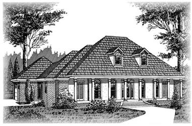 4-Bedroom, 2550 Sq Ft Colonial House Plan - 113-1027 - Front Exterior