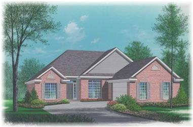 3-Bedroom, 1617 Sq Ft Small House Plans - 113-1028 - Front Exterior