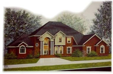 4-Bedroom, 3596 Sq Ft Colonial Home Plan - 113-1029 - Main Exterior