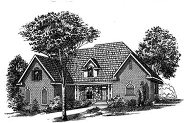 3-Bedroom, 2430 Sq Ft Traditional House Plan - 113-1030 - Front Exterior