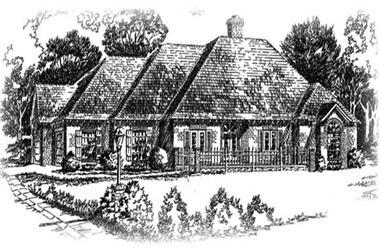 3-Bedroom, 1714 Sq Ft European Home Plan - 113-1032 - Main Exterior