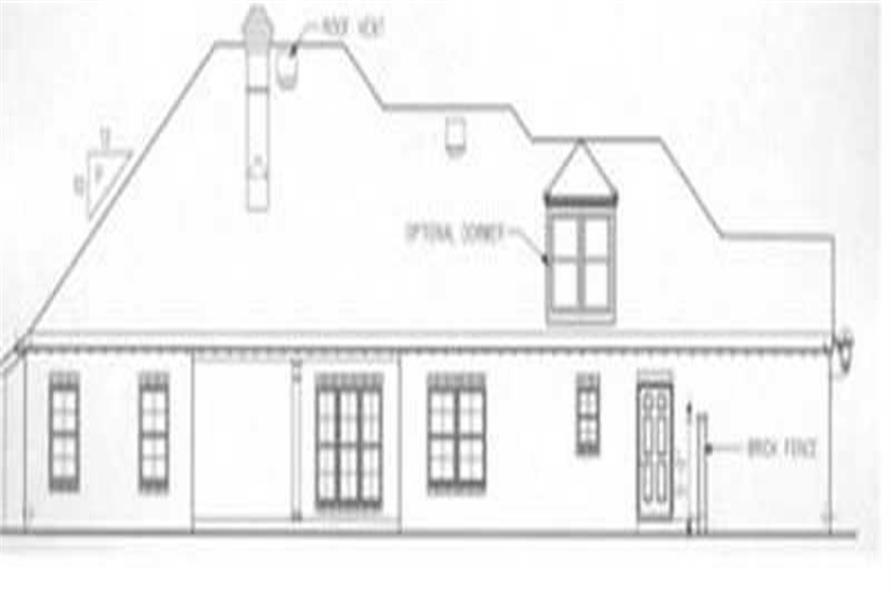 Home Plan Rear Elevation of this 3-Bedroom,1714 Sq Ft Plan -113-1032