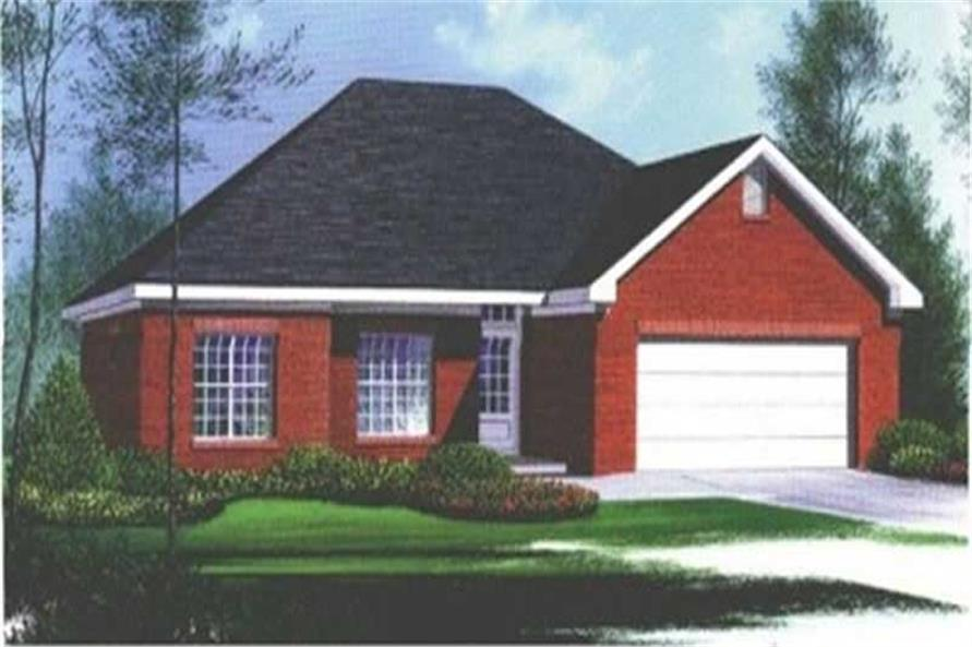 3-Bedroom, 1445 Sq Ft Ranch House Plan - 113-1034 - Front Exterior
