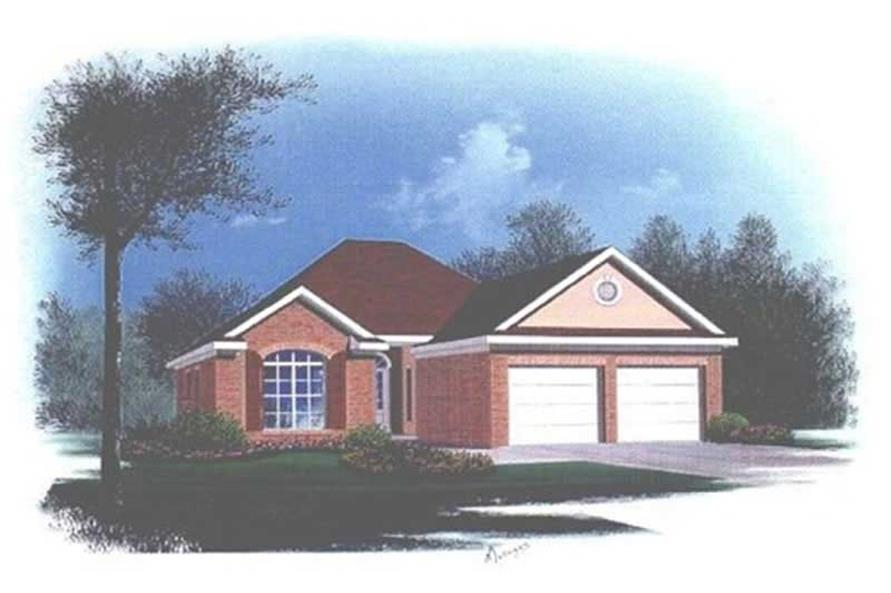 3-Bedroom, 1525 Sq Ft Bungalow House Plan - 113-1035 - Front Exterior