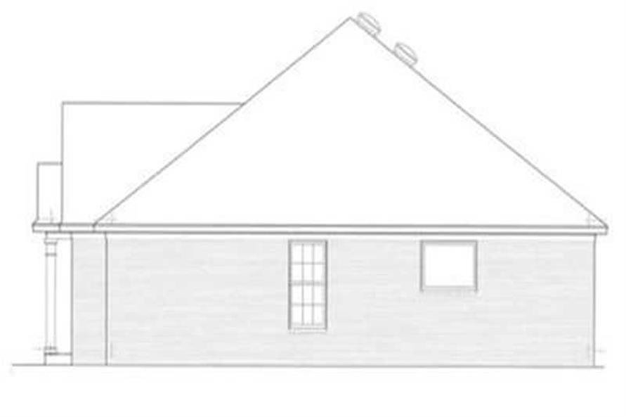 Home Plan Right Elevation of this 3-Bedroom,1608 Sq Ft Plan -113-1036
