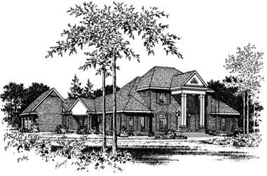 4-Bedroom, 3738 Sq Ft Colonial Home Plan - 113-1037 - Main Exterior