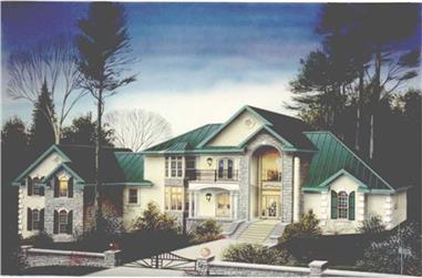 4-Bedroom, 3712 Sq Ft European Home Plan - 113-1038 - Main Exterior