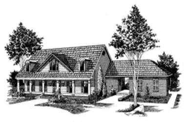 3-Bedroom, 2522 Sq Ft Ranch House Plan - 113-1040 - Front Exterior