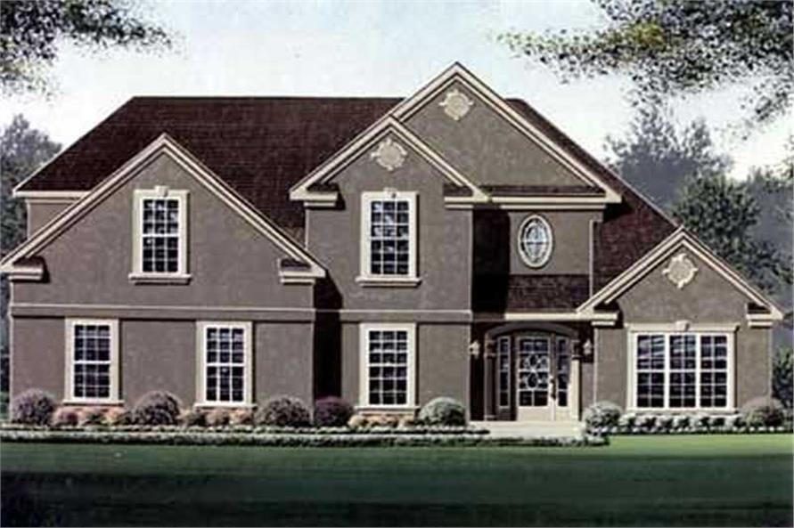 3-Bedroom, 2117 Sq Ft French Home Plan - 113-1041 - Main Exterior
