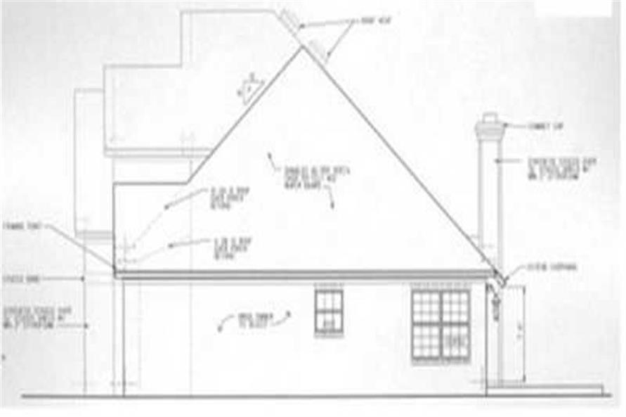 Home Plan Right Elevation of this 3-Bedroom,2117 Sq Ft Plan -113-1041