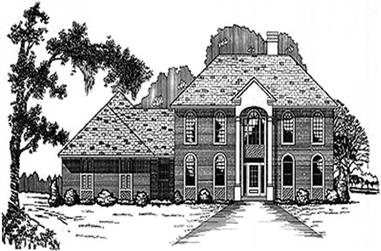 3-Bedroom, 3216 Sq Ft Colonial House Plan - 113-1042 - Front Exterior