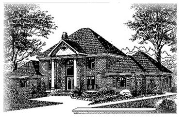 4-Bedroom, 3305 Sq Ft Colonial House Plan - 113-1043 - Front Exterior