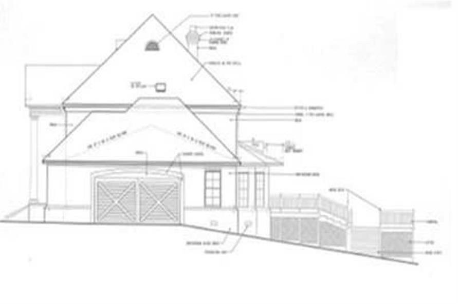 Home Plan Right Elevation of this 4-Bedroom,3305 Sq Ft Plan -113-1043