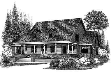 4-Bedroom, 2924 Sq Ft Country House Plan - 113-1044 - Front Exterior